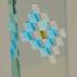 Glaspokal sandgestrahlt