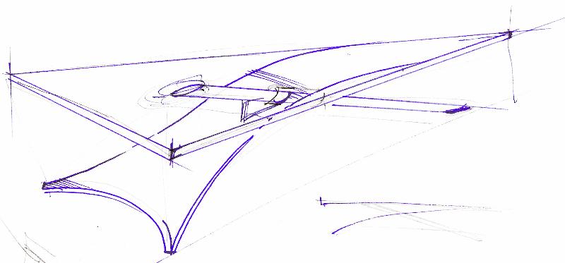 Skizze Bürotisch