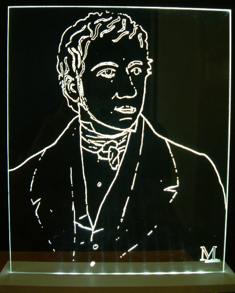Acrylglas beleuchtet